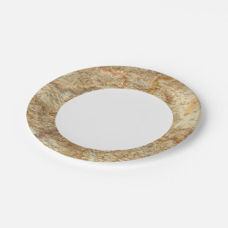 North Western Frontier of India Paper Plate