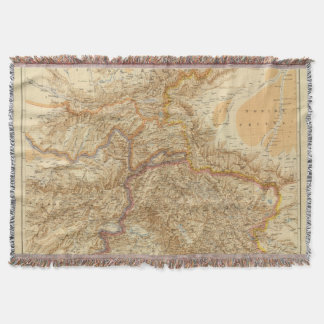 North Western Frontier of India Throw Blanket