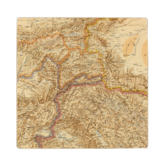 North Western Frontier of India Wood Coaster
