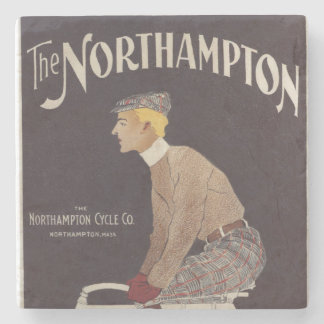 Northampton Cycle Co. Vintage Poster Stone Coaster