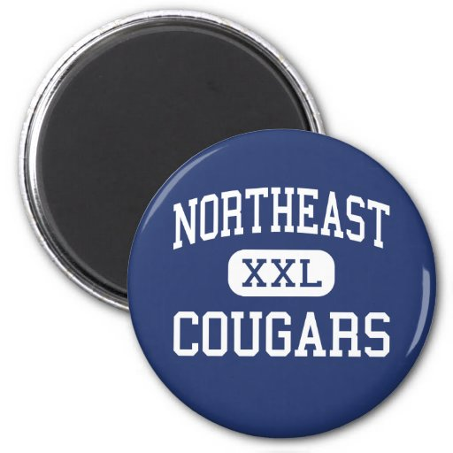 Northeast Cougars Middle Baltimore Maryland Fridge Magnets