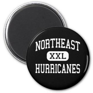 Northeast - Hurricanes - High - Oakland Park 6 Cm Round Magnet
