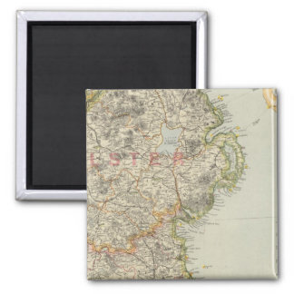 Northeast Ireland Square Magnet