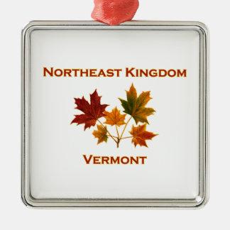 Northeast Kingdom (NEK) Vermont Maple Leaves Christmas Ornament