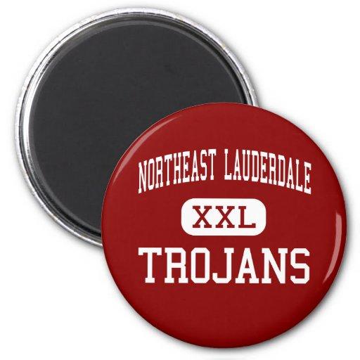 Northeast Lauderdale - Trojans - High - Meridian Fridge Magnets