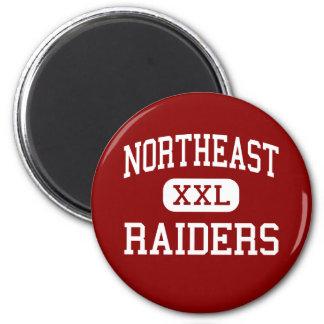 Northeast - Raiders - High School - Macon Georgia 6 Cm Round Magnet