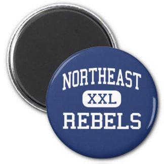 Northeast - Rebels - High School - Goose Lake Iowa Refrigerator Magnet