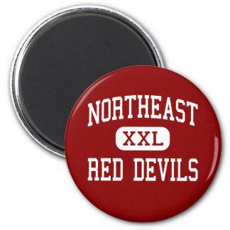 Northeast - Red Devils - Middle - Bristol 6 Cm Round Magnet