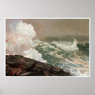 Northeaster, 1895 Winslow Homer Poster