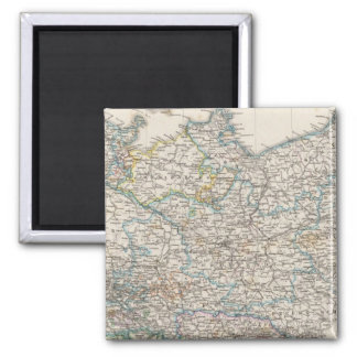 Northeastern Germany Square Magnet