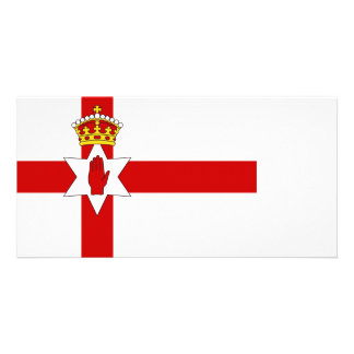 Norther Ireland ulster flag Personalised Photo Card