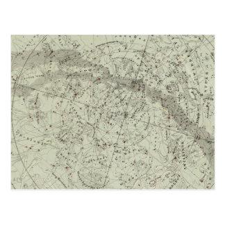 Norther Night Sky map Postcard