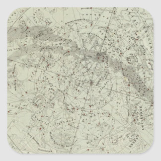 Norther Night Sky map Square Sticker