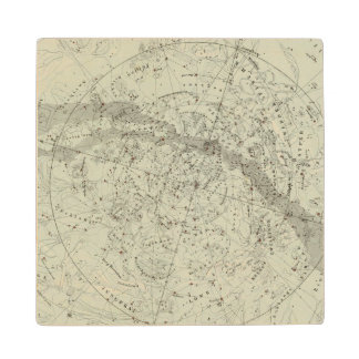 Norther Night Sky map Wood Coaster