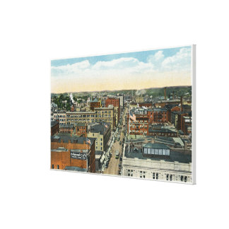 Northern Aerial View of Main Street Canvas Print