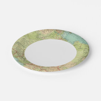 Northern Africa with shipping routes Paper Plate
