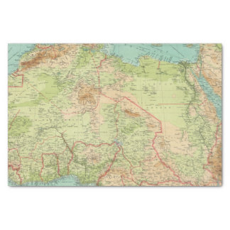 Northern Africa with shipping routes Tissue Paper