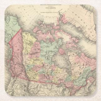 Northern America Square Paper Coaster