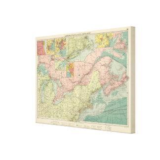 Northern American Atlantic ports Canvas Print