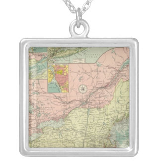 Northern American Atlantic ports Silver Plated Necklace