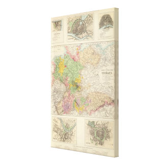 Northern and Central Germany Canvas Print