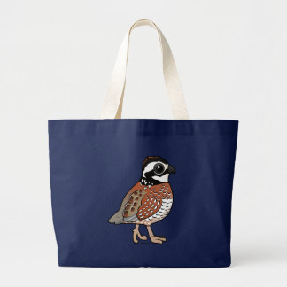 Northern Bobwhite Large Tote Bag