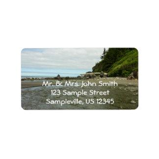 Northern California Coastline from Redwood Park Address Label