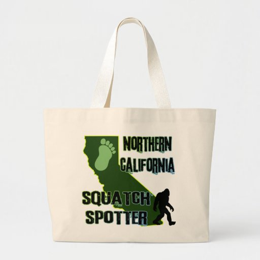 Northern California Squatch Spotter Tote Bags