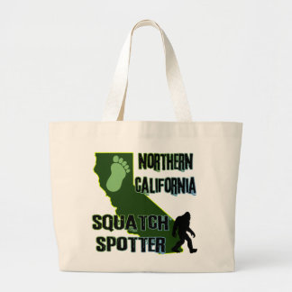 Northern California Squatch Spotter Large Tote Bag