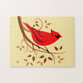 Northern Cardinal Art Puzzles