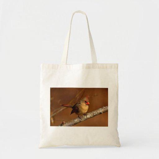 Northern Cardinal Canvas Bags
