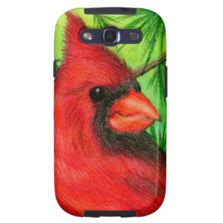 Northern Cardinal Galaxy S3 Cases