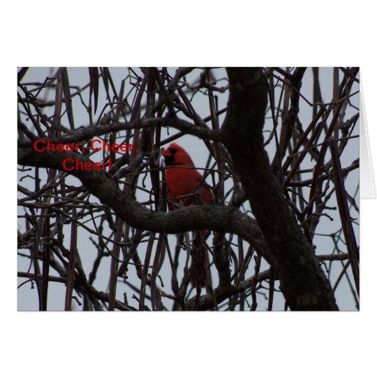 Northern Cardinal, Cheer, Cheer, Cheer Card