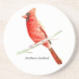 Northern Cardinal coaster