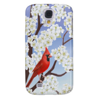 Northern Cardinal in Apple Tree HTC Vivid Case