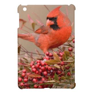 Northern Cardinal in Nandina Heavenly Bamboo iPad Mini Cover