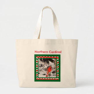 Northern Cardinal in Snow  Tote Bag