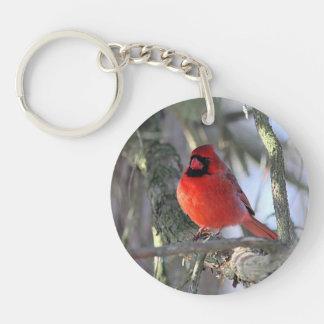 Northern Cardinal Key Ring