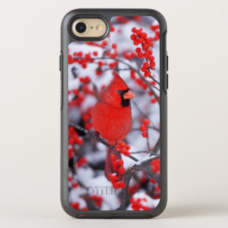 Northern Cardinal male, Winter, IL OtterBox Symmetry iPhone 7 Case