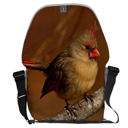 Northern Cardinal Messenger Bag