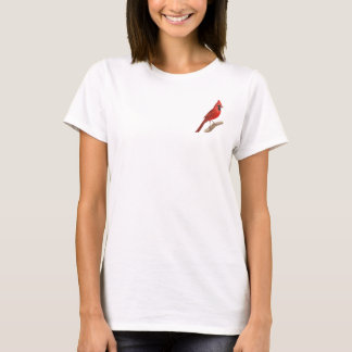Northern Cardinal Red Bird Baby Doll Shirt