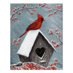 Northern Cardinal Winter Snow Poster