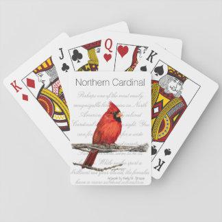 Northern Cardinal Word Art Bird Playing Cards