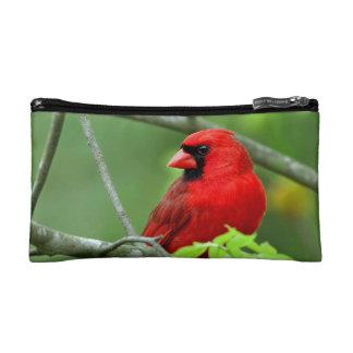Northern cardinals makeup bags