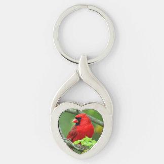 Northern cardinals key ring