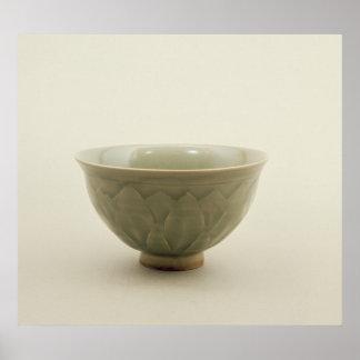 Northern celadon bowl poster