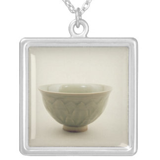 Northern celadon bowl silver plated necklace