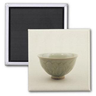 Northern celadon bowl square magnet