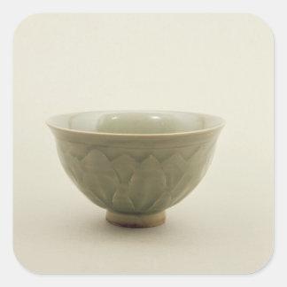 Northern celadon bowl square sticker