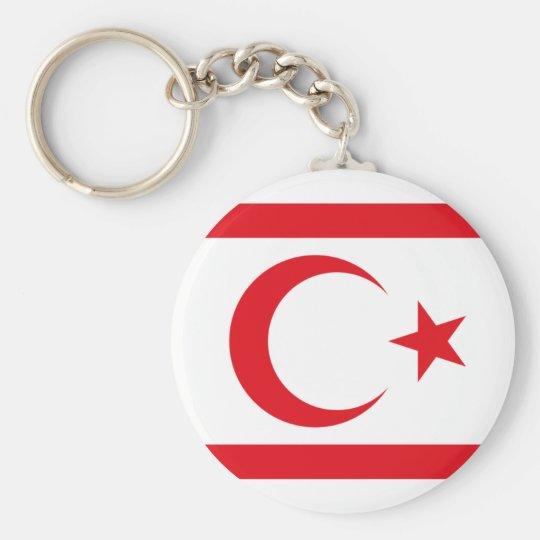 northern cyprus basic round button key ring